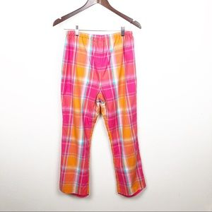 Mimi Maternity Plaid Dress Capri Pants Size Small